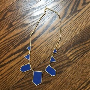Royal Blue Geometric Statement Necklace